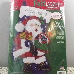 Feltworks DIY Stocking Kit - Visit with Santa